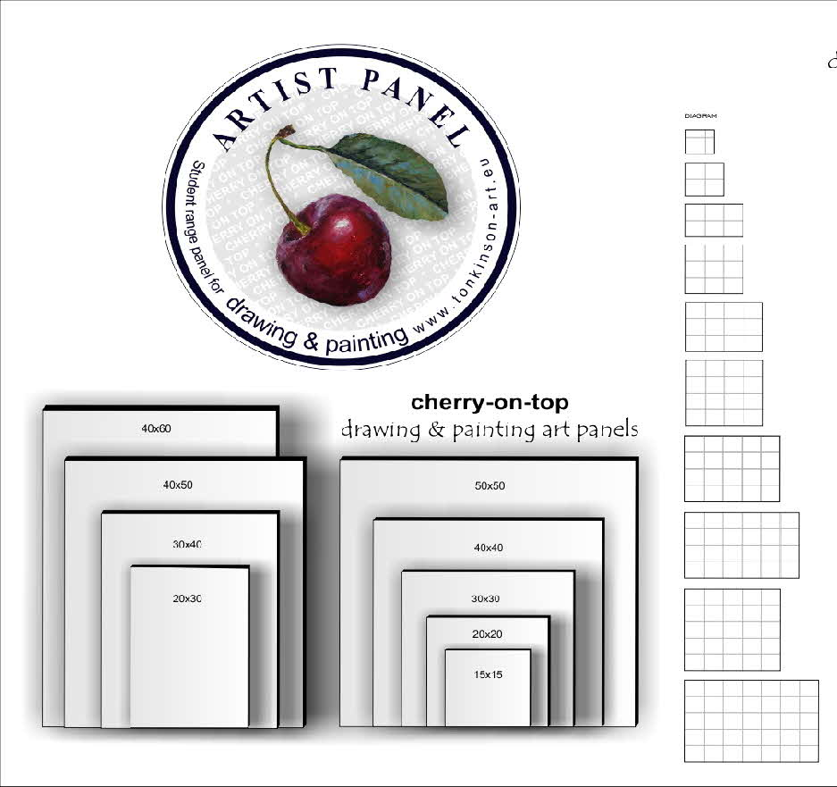 Art panels - cherry on top by Tonkinson