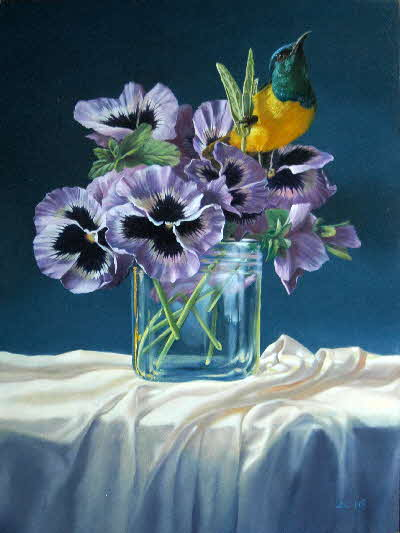 pansies and sunbird-003