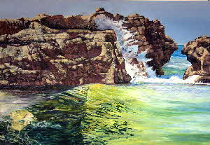 seascape of pollock beach by tonkinson-art
