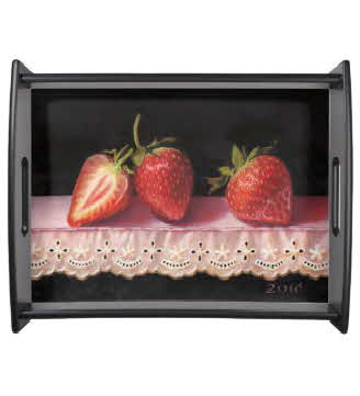 stawberry tray by TAM on Zazzle